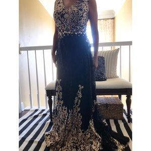Black and Gold ball gown